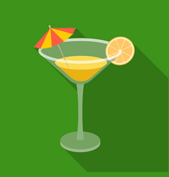 lemon cocktail icon in flate style isolated on vector image