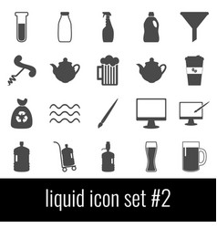 liquid icon set 2 gray icons on white background vector image