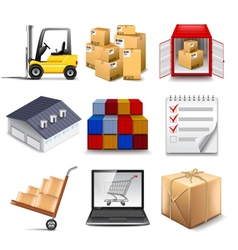 Logistics part two icons set vector