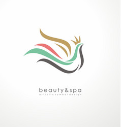 Logo design idea for beauty and spa vector