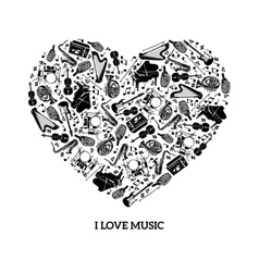 Love Music Concept vector image