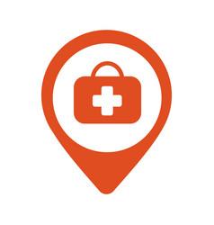 Map pin icon hospital vector