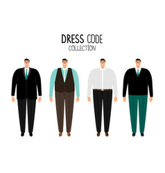 men formal dress code vector image