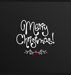merry christmas lettering card design vector image