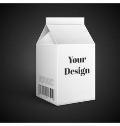 Milk Juice Beverages Carton Package Blank White vector