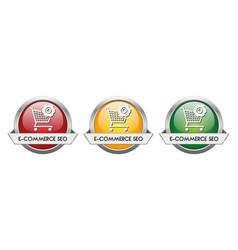 Modern button e-commerce seo vector