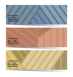 Modern design set of three colorful graphic vector
