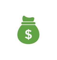 money bag icon graphic design template vector image