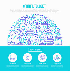 ophthalmologist concept in half circle vector image