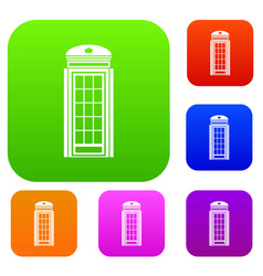 phone booth set collection vector image