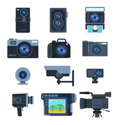 Photograph digital equipment camera vector