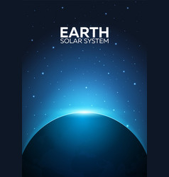 Poster planet earth and solar system space vector