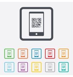 Qr code sign icon Scan code symbol vector