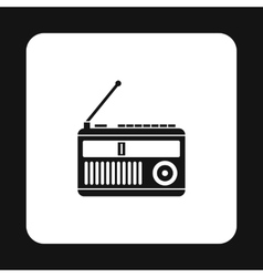 Radio receiver icon simple style vector