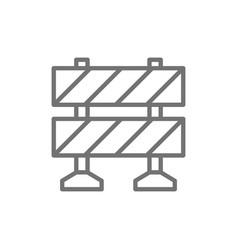 railroad barrier roadblock line icon vector image