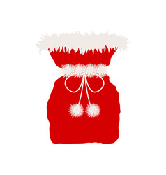 Santa claus bag isolated on white vector