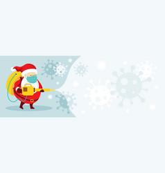 santa claus character spraying alcohol vector image