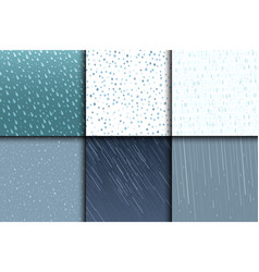 seamless colorful rain drops pattern background vector image
