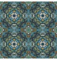 Seamless mosaic abstract geometric print vector