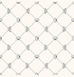 seamless sea life monochrome geometric vector image