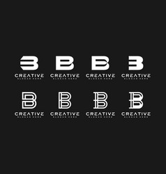 Set of initial letter b abstract logo design vector
