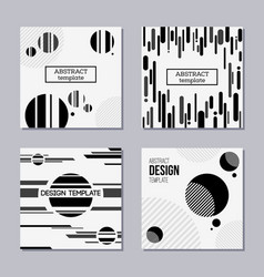 set of trendy cards with flat design vector image
