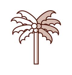 shadow beach palm cartoon vector image