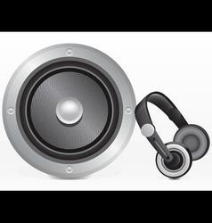 speaker and headphones vector image