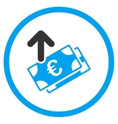 Spend Euro Banknotes Rounded Icon vector