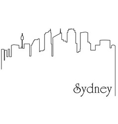 sydney city one line drawing vector image