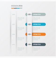 Timeline design orange blue gray color vector