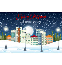 Urban city winter landscape vector