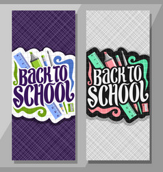 Vertical banners for school vector