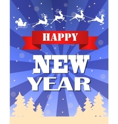 Vintage New year card design vector