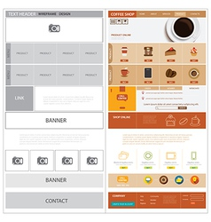 website wireframe template and mock up vector image