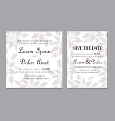 Wedding invitation floral card seamless background vector