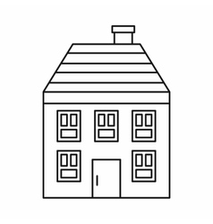 Wooden house icon outline style vector