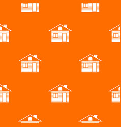 wooden log house pattern seamless vector image