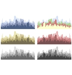 abstract city silhouette vector image