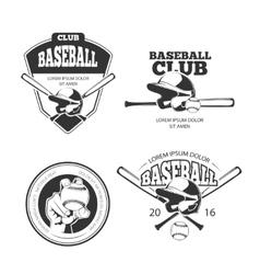 Baseball vintage emblems labels badges vector