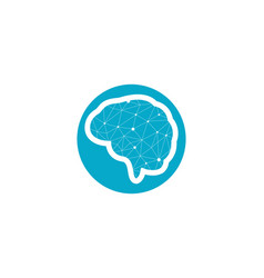 brain icon template vector image