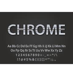 chrome metallic font vector image