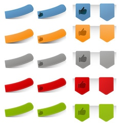 Various Tab Icons vector image vector image