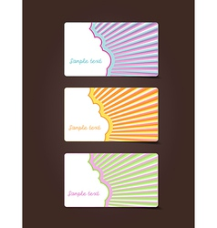 3 gift cards with place for your own text vector image