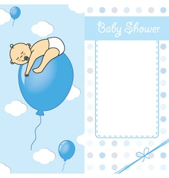 baby boy birth car vector image