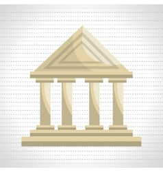 bank building isolated icon design vector image vector image