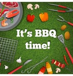 Bbq picnic poster vector
