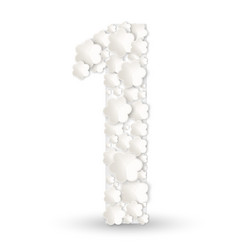 figure one made of white flowers vector image vector image
