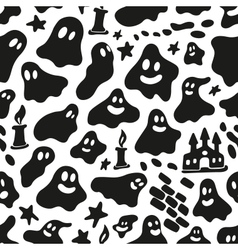 ghosts - seamless background vector image