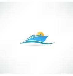 Sea liner vector image vector image